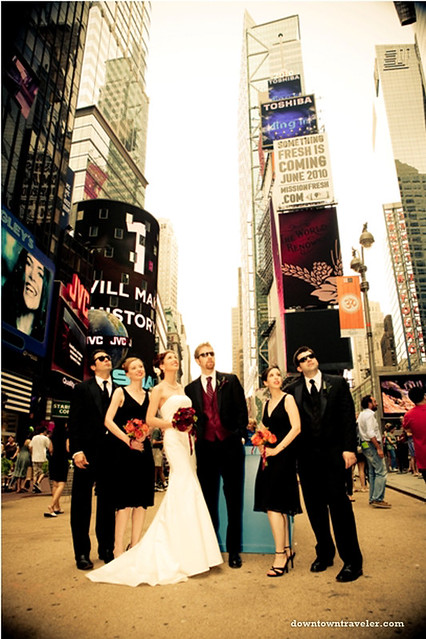 NYC Times Square Wedding Broadway Theater 06