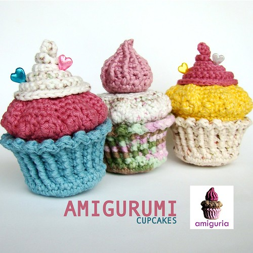 Amigurumi Cupcakes by Amiguria by Amiguria