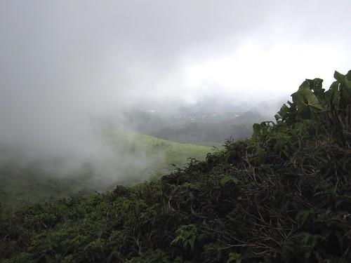 mist volcano guadeloupe lasoufrière