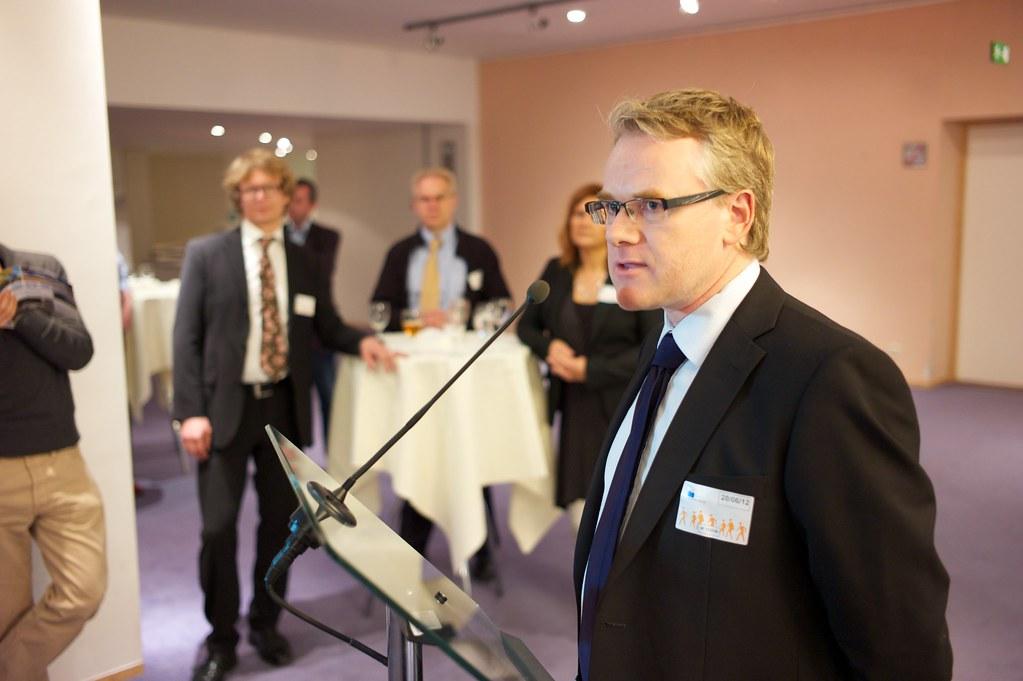Björn Aronsson, Vätgas Sverige, håller tal i EU-parlamentet.