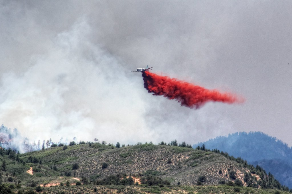 Retardant Drop - Waldo Canyon Fire - Colorado Springs