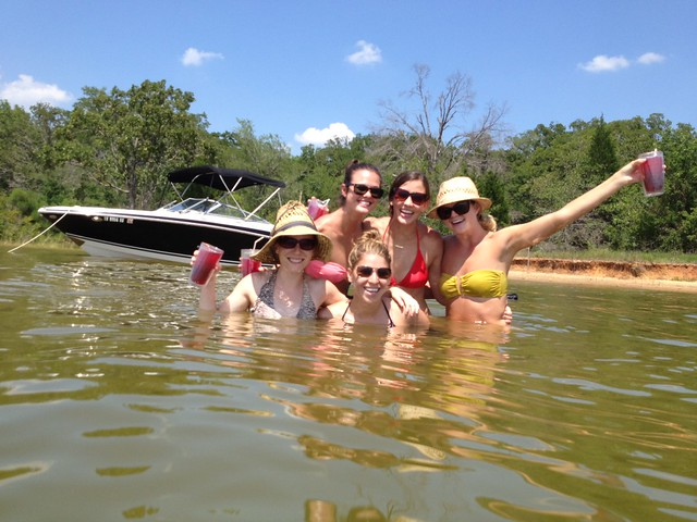 girls at the lake