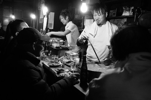 A small eatery in the side streets of Shinjuku. Tokyo 2012