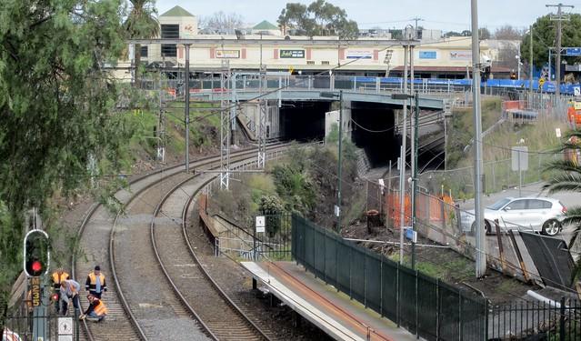 Footscray, looking towards Nicholson Street