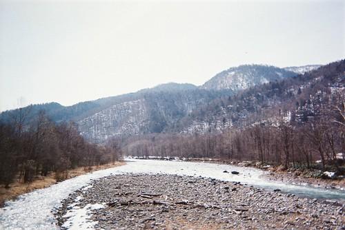 帯広行った途中の川