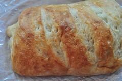 sliced bread(0.0), meal(1.0), breakfast(1.0), beer bread(1.0), tsoureki(1.0), bread(1.0), baked goods(1.0), ciabatta(1.0), food(1.0), soda bread(1.0), sourdough(1.0),