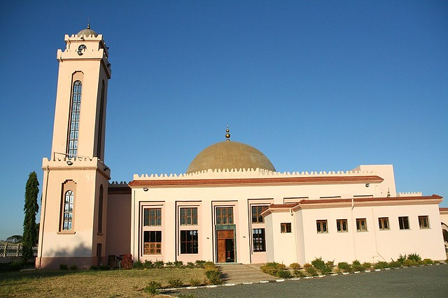 Muammar Gaddafi Mosque Dodoma (side view)