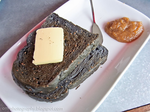 charcoal toast with butter and home made kaya R0018206 copy