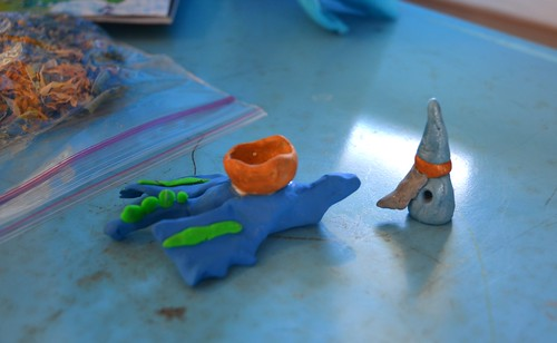 FIMO dragon and wizard