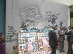 2012.07.13 Nairobi graffiti wall art on Kenyan politics - KE