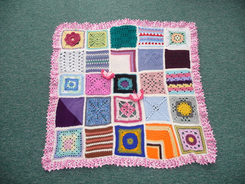 Thanks to everyone that contributed squares for the last Jan Eaton blanket.