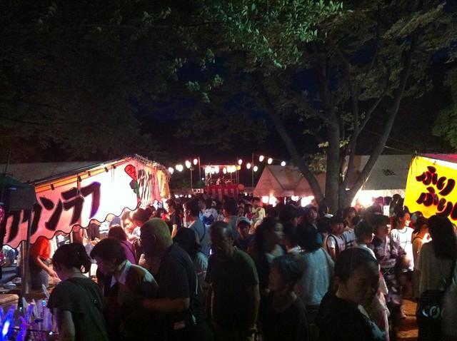 Bon-odori, Bon dance festival, 盆踊り, ぼんおどり, 夜店, yomise