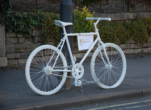 Ghost Bike, Bath. In Memory of Mark Gerrish
