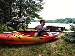 Land kayaking!