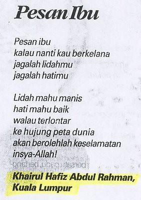 Puisi Singkat Untuk Ibu Tercinta | hadisida.com/puisi ...