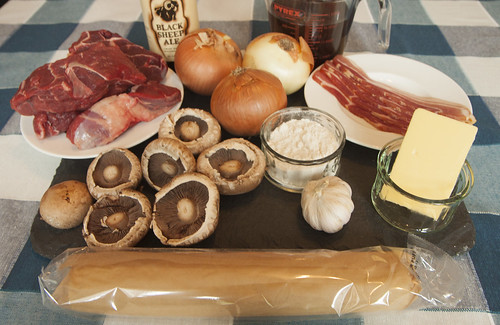 Traditional Steak & Ale Pie - Ingredients