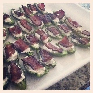 Goat cheese & peppercorn bacon.