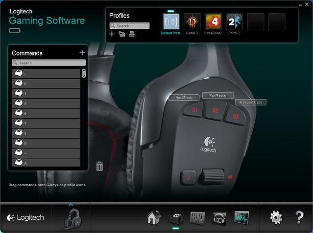 Logitech G930 Wireless Gaming Headset - Programmable G-Keys