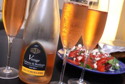 2007 Vintage Cremant de Bordeaux Rose Brut (Les Cordeliers)
