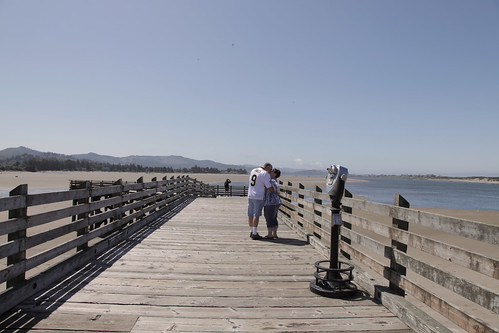 Parents on the pier