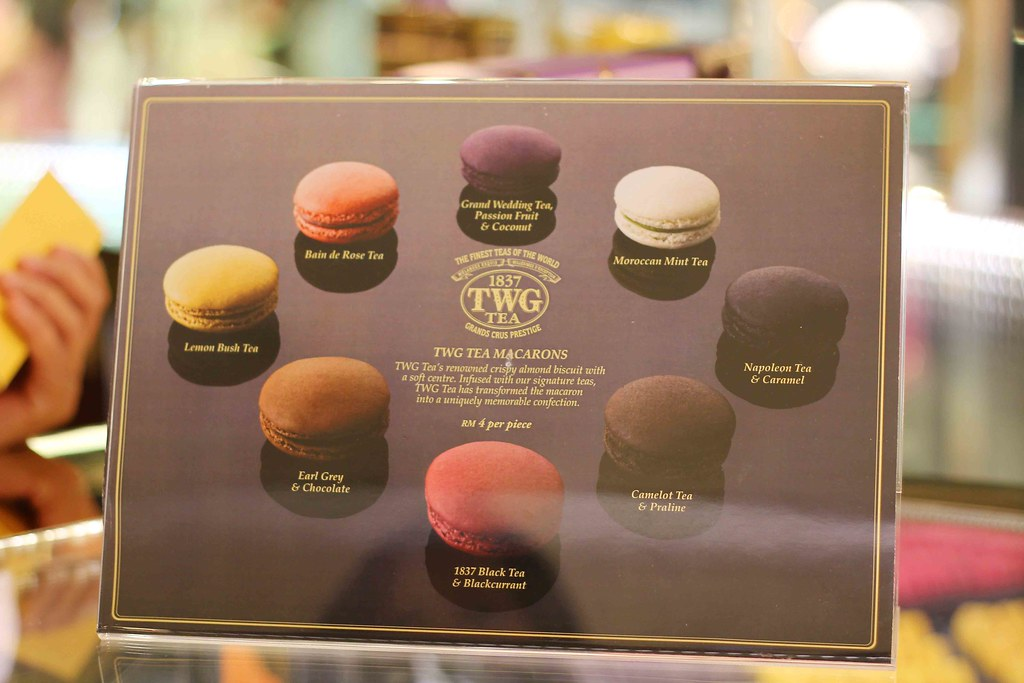 TWG Macarons Flavours