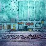 Egyptian Collagraph Print