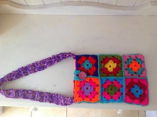Crochet Shoulder Bag. by Crafty Bags