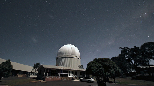 Magellanic Clouds and Milky Way over the AAT