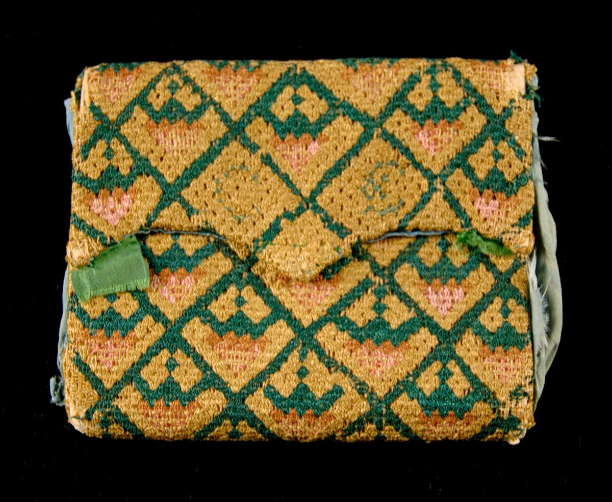 1740. American. Linen, silk. metmuseum