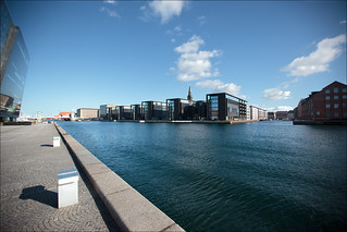Back view of the royal library in Copenhagen