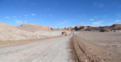 Le désert d'Atacama: el Valle de la Luna et son Amphitéâtre (à droite)