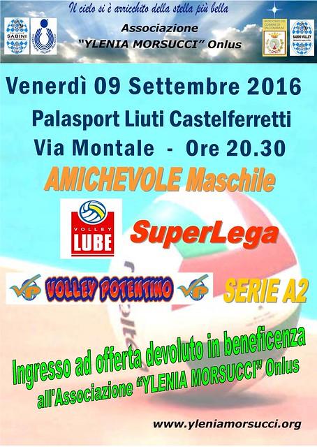 Amichevole di pallavolo Lube-Volley Potentino 2016