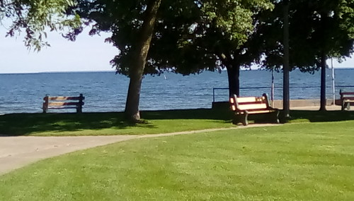 Benches in Memorial Park.-HBM.
