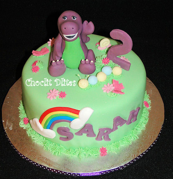 Rainbow cake pictures photos and images for facebook tumblr - Sarah S Barney Cake Flickr Photo Sharing