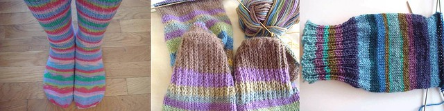 socks with Regia yarn