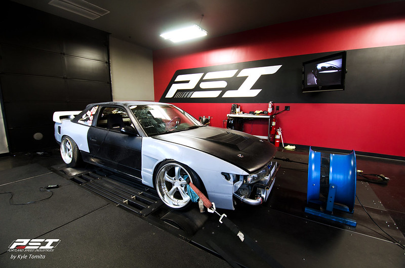 Justin Shreeve's 1JZ S13 on the dyno at PSI
