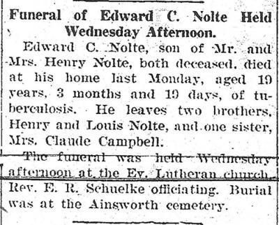 E. Nolte death notice