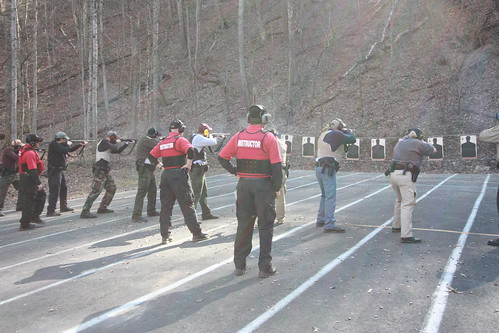 Fire Arms Qualification during in-service.