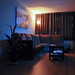 Small photo of Living room at night