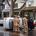 Rollover at Coxwell and Danforth