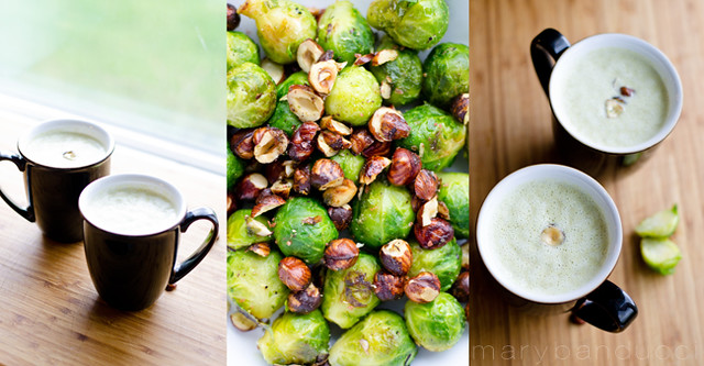 Creamy Hazelnut Brussel Soup by Mary Banducci