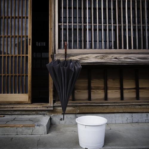Umbrella, Door, Bucket, After the Rain