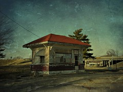Lonely filling station