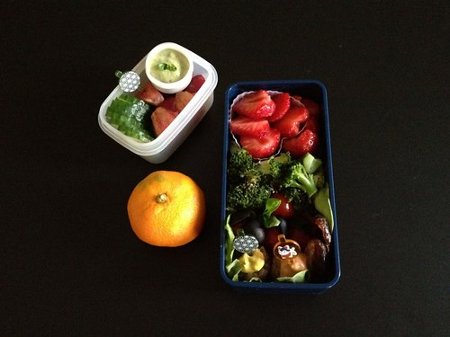Messy Meatless Monday Bento #185 (11-06-2012)