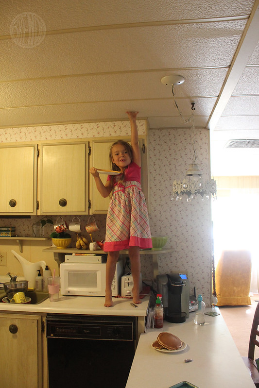 I can touch the ceiling!