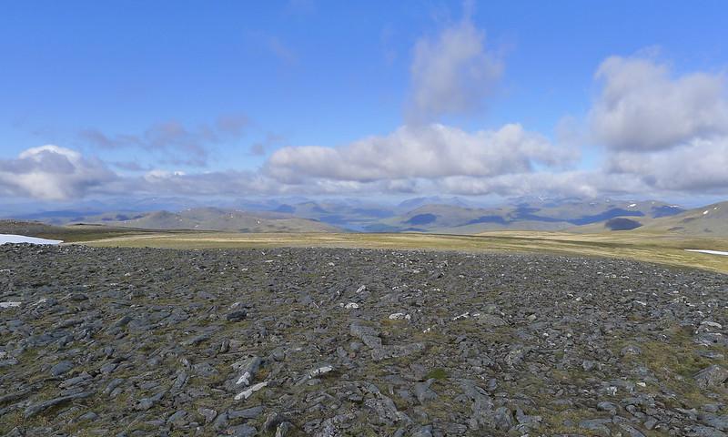 Loch Ossian from Ben Alder