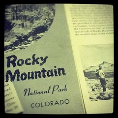 Love this circa 1950 Rocky National Park Brochure that my bestie Stacia sent to me. Thank you Stac for finding this treasure at your grandparent's place and knowing that I'd think it a treasure!