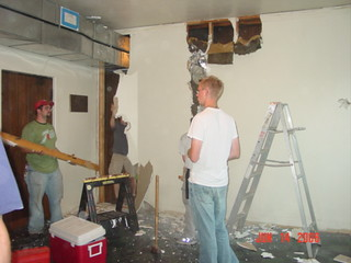 Students Working on Renovation