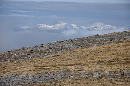 Snow capped Ben More Assynt