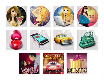 free Hot City slot game symbols